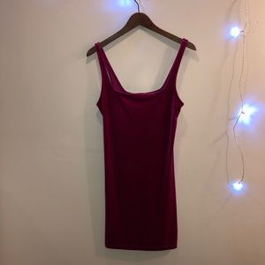 Urban Outfitters velvet magenta mini dress